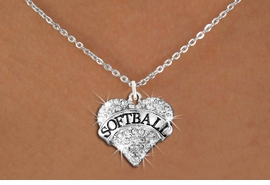 "<BR>     WHOLESALE FASHION HEART JEWELRY <bR>                   EXCLUSIVELY OURS!! <Br>              AN ALLAN ROBIN DESIGN!! <BR>     CLICK HERE TO SEE 1600+ EXCITING <BR>           CHANGES THAT YOU CAN MAKE! <BR>        LEAD, NICKEL & CADMIUM FREE!! <BR>   W1582SN - ANTIQUED SILVER TONE AND <BR>CLEAR CRYSTAL ""SOFTBALL"" HEART CHARM <BR>   NECKLACE FROM $5.40 TO $9.85 �2014<BR>PICTURED ABOVE  ""SMALL CHAIN NECKLACE"""