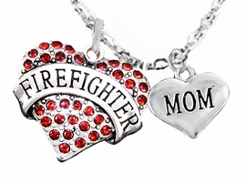 "<Br>WHOLESALE FIREFIGHTER MALTESE CROSS JEWELRY  <BR>                             AN ALLAN ROBIN DESIGN!! <Br>                    CADMIUM, LEAD & NICKEL FREE!!  <Br>     W1557-1837N1  ""FIREFIGHTER  MOM"" HEART  <BR>      CHARMS ON ADJUSTABLE CHAIN NECKLACE<BR>                      FROM $7.50 TO $9.50 �2016"