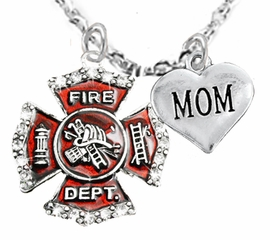 "<Br>WHOLESALE FIREFIGHTER MALTESE CROSS JEWELRY  <BR>                             AN ALLAN ROBIN DESIGN!! <Br>                    CADMIUM, LEAD & NICKEL FREE!!  <Br>     W1284-1837N1  ""FIREFIGHTER  MOM"" HEART  <BR>      CHARMS ON ADJUSTABLE CHAIN NECKLACE<BR>                      FROM $7.50 TO $9.50 �2016"