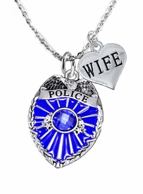 "<Br>                         WHOLESALE POLICE JEWELRY  <BR>                             AN ALLAN ROBIN DESIGN!! <Br>                    CADMIUM, LEAD & NICKEL FREE!!  <Br>           W1329-1876N1 I LOVE YOU "" WIFE"" HEART  <BR>          CHARMS ON ADJUSTABLE CHAIN NECKLACE<BR>                      FROM $7.50 TO $9.50 �2016"