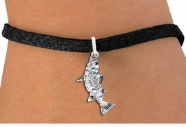 <BR>   WHOLESALE FISHING CHARM JEWELRY <bR>                 EXCLUSIVELY OURS!! <Br>            AN ALLAN ROBIN DESIGN!! <BR>   CLICK HERE TO SEE 1000+ EXCITING <BR>         CHANGES THAT YOU CAN MAKE! <BR>      LEAD, NICKEL & CADMIUM FREE!! <BR> W1506SB - SILVER TONE AND AUSTRIAN <BR>    CLEAR CRYSTAL BASS FISH CHARM <BR>   BRACELET FROM $5.40 TO $9.85 �2013