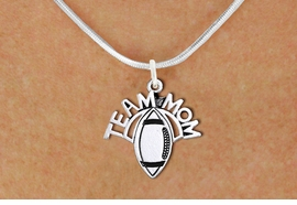 "<br>  WHOLESALE FOOTBALL NECKLACE JEWELRY <bR>                    EXCLUSIVELY OURS!! <BR>               AN ALLAN ROBIN DESIGN!! <BR>      CLICK HERE TO SEE 1000+ EXCITING <BR>            CHANGES THAT YOU CAN MAKE! <BR>         CADMIUM, LEAD & NICKEL FREE!! <BR>        W1488SN - DETAILED SILVER TONE <BR>   ""TEAM MOM"" FOOTBALL CHARM & NECKLACE <BR>              FROM $4.50 TO $8.35 �2013"