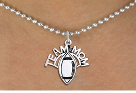 "<br>  WHOLESALE FOOTBALL NECKLACE JEWELRY <bR>                    EXCLUSIVELY OURS!! <BR>               AN ALLAN ROBIN DESIGN!! <BR>      CLICK HERE TO SEE 1000+ EXCITING <BR>            CHANGES THAT YOU CAN MAKE! <BR>         CADMIUM, LEAD & NICKEL FREE!! <BR>        W1488SN - DETAILED SILVER TONE <BR>   ""TEAM MOM"" FOOTBALL CHARM & NECKLACE <BR>              FROM $4.85 TO $8.30 �2013"