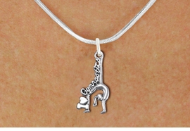 """<BR>      WHOLESALE GYMNASTIC JEWELRY<bR>               EXCLUSIVELY OURS!! <BR>          AN ALLAN ROBIN DESIGN!! <BR> CLICK HERE TO SEE 1000+ EXCITING <BR>       CHANGES THAT YOU CAN MAKE! <BR>    CADMIUM, LEAD & NICKEL FREE!! <BR>    W1426SN - """"I LOVE GYMNASTICS"""" <Br>    WITH GYMNAST CHARM & NECKLACE <BR>        FROM $4.50 TO $8.35 �2013"""