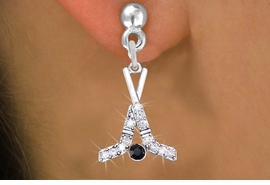 <BR>       WHOLESALE HOCKEY JEWELRY <bR>              EXCLUSIVELY OURS!! <Br>         AN ALLAN ROBIN DESIGN!! <BR>   LEAD, NICKEL & CADMIUM FREE!! <BR> W1492SE - SILVER TONE HOCKEY STICKS <BR> AND PUCK CRYSTAL CHARM EARRINGS <BR>       FROM $5.40 TO $10.45 �2013