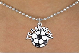 "<br>WHOLESALE JEWELRY - SOCCER NECKLACES!! <bR>                    EXCLUSIVELY OURS!! <BR>               AN ALLAN ROBIN DESIGN!! <BR>      CLICK HERE TO SEE 1000+ EXCITING <BR>            CHANGES THAT YOU CAN MAKE! <BR>         CADMIUM, LEAD & NICKEL FREE!! <BR>        W1490SN - DETAILED SILVER TONE <BR>   ""TEAM MOM"" SOCCER CHARM & NECKLACE <BR>              FROM $4.85 TO $8.30 �2013"