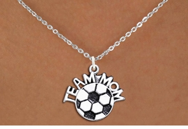 "<br>WHOLESALE JEWELRY - SOCCER NECKLACES!! <bR>                    EXCLUSIVELY OURS!! <BR>               AN ALLAN ROBIN DESIGN!! <BR>      CLICK HERE TO SEE 1000+ EXCITING <BR>            CHANGES THAT YOU CAN MAKE! <BR>         CADMIUM, LEAD & NICKEL FREE!! <BR>        W1490SN - DETAILED SILVER TONE <BR>   ""TEAM MOM"" SOCCER CHARM & NECKLACE <BR>              FROM $4.50 TO $8.35 �2013"