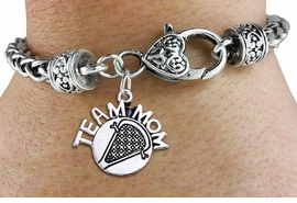 "<bR>    WHOLESALE LACROSSE SPORT BRACELET <BR>                     EXCLUSIVELY OURS!! <BR>                AN ALLAN ROBIN DESIGN!! <BR>          CADMIUM, LEAD & NICKEL FREE!! <BR>        W1483SB - DETAILED SILVER TONE  <BR> ""TEAM MOM"" LACROSSE CHARM & HEART CLASP <BR>      BRACELET FROM $3.94 TO $8.75 �2013"