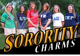 <BR> WHOLESALE LICENSED SORORITY CHARMS <BR> CADMIUM, LEAD AND NICKEL FREE <BR>             SOLD INDIVIDUALLY