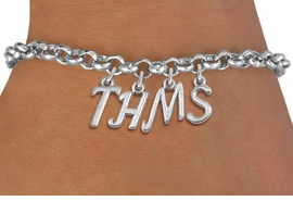 <br> WHOLESALE MIDDLE SCHOOL BRACELET<Br>                   EXCLUSIVELY OURS!!<Br>             AN ALLAN ROBIN DESIGN!!<Br>                  LEAD & NICKEL FREE!! <BR>        THIS IS A PERSONALIZED ITEM <Br> W20091B - SILVER TONE LOBSTER CLASP <BR>    CUSTOM CHARM BRACELET WITH YOUR <BR>    PERSONAL MIDDLE SCHOOL INITIALS <BR>         FROM $5.29 TO $11.75 �2013