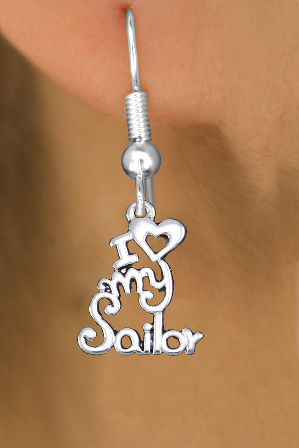 Wholesale Navy Earrings Exclusively Ours An Allan Robin Design Cadmium Lead Nickel Free