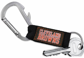 <bR> WHOLESALE NFL FOOTBALL TEAM KEYCHAIN <BR>     OFFICIAL FOOTBALL LICENSED!! <br>             LEAD & NICKEL FREE!!! <br>W20560KC - OFFICIAL CLEVELAND BROWNS <BR>  CARABINER WITH BOTTLE OPENER AND <BR>KEY CHAIN YOURS FOR $1.43 To $1.68 EACH �2013