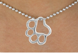 <br>  WHOLESALE PAW PRINT CHARM NECKLACE <bR>                   EXCLUSIVELY OURS!! <BR>              AN ALLAN ROBIN DESIGN!! <BR>     CLICK HERE TO SEE 1000+ EXCITING <BR>           CHANGES THAT YOU CAN MAKE! <BR>        CADMIUM, LEAD & NICKEL FREE!! <BR>       W441SN - DETAILED SILVER TONE <BR>    OPEN PAW PRINT CHARM & NECKLACE <BR>             FROM $4.50 TO $8.35 �2013