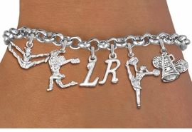 <br>        WHOLESALE PERSONALIZED CHEER BRACELET<Br>              EXCLUSIVELY OURS!!<Br>        AN ALLAN ROBIN DESIGN!!<Br>             LEAD & NICKEL FREE!! <BR>THIS IS A PERSONALIZED ITEM <Br>W19744B - SILVER TONE CHEER <BR>     THEMED SIX CHARM BRACELET <BR>    WITH PERSONALIZED INITIALS <BR>     FROM $8.44 TO $18.75  �2012