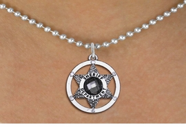 <BR>     WHOLESALE POLICE CHARM NECKLACE! <bR>                   EXCLUSIVELY OURS!! <Br>              AN ALLAN ROBIN DESIGN!! <BR>     CLICK HERE TO SEE 1000+ EXCITING <BR>           CHANGES THAT YOU CAN MAKE! <BR>        LEAD, NICKEL & CADMIUM FREE!! <BR>  W1469SN - SILVER TONE AND MARCASITE <BR> CRYSTAL SHERIFF BADGE CHARM AND NECKLACE <BR>            FROM $5.40 TO $9.85 �2013