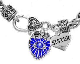 "<Br>              WHOLESALE POLICE CRYSTAL JEWELRY  <BR>                         AN ALLAN ROBIN DESIGN!! <Br>                   CADMIUM, LEAD & NICKEL FREE!!  <Br>         W1329-1833B1  ""I LOVE YOU SISTER"" HEART  <BR>      CHARMS ON HEART LOBSTER CLASP BRACELET <BR>                     FROM $7.50 TO $9.50 �2016"