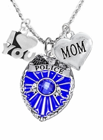 "<Br>                           WHOLESALE POLICE JEWELRY  <BR>                             AN ALLAN ROBIN DESIGN!! <Br>                    CADMIUM, LEAD & NICKEL FREE!!  <Br>W1329-380-1837N1  I LOVE YOU AND "" MOM"" HEART  <BR>         CHARMS ON ADJUSTABLE CHAIN NECKLACE<BR>                           FROM $7.50 TO $9.50 �2016"