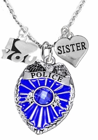 "<Br>                           WHOLESALE POLICE JEWELRY  <BR>                             AN ALLAN ROBIN DESIGN!! <Br>                    CADMIUM, LEAD & NICKEL FREE!!  <Br>W1329-380-1833N1  I LOVE YOU "" SISTER"" HEART  <BR>         CHARMS ON ADJUSTABLE CHAIN NECKLACE<BR>                      FROM $7.50 TO $9.50 �2016"