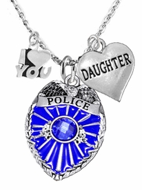 "<Br>                           WHOLESALE POLICE JEWELRY  <BR>                             AN ALLAN ROBIN DESIGN!! <Br>                    CADMIUM, LEAD & NICKEL FREE!!  <Br>  W1329-380-1831N1  I LOVE YOU "" DAUGHTER"" HEART  <BR>         CHARMS ON ADJUSTABLE CHAIN NECKLACE<BR>                      FROM $7.50 TO $9.50 �2016"