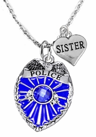 "<Br>                           WHOLESALE POLICE JEWELRY  <BR>                             AN ALLAN ROBIN DESIGN!! <Br>                    CADMIUM, LEAD & NICKEL FREE!!  <Br>           W1329-1833N1  I LOVE YOU ""SISTER"" HEART  <BR>         CHARMS ON ADJUSTABLE CHAIN NECKLACE<BR>                      FROM $7.50 TO $9.50 �2016"