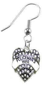<BR>    WHOLESALE POLICEMAN'S WIFE FASHION EARRING  <bR>                                EXCLUSIVELY OURS!!  <Br>                           AN ALLAN ROBIN DESIGN!!  <BR>                     LEAD, NICKEL & CADMIUM FREE!!  <BR>                W1674SE1 - ANTIQUED SILVER TONE AND  <BR>                  CLEAR CRYSTAL POLICEMAN'S WIFE CHARM  <BR>               ON SURGICAL STEEL FISHHOOK EARRINGS <BR>                        FROM $5.40 TO $10.45 �2015