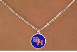 <BR>WHOLESALE SAM HOUSTON JEWELRY<Br>                  LEAD & NICKEL FREE!!<Br>                OFFICIALLY LICENSED!!<bR> W19125N - SAM HOUSTON UNIVERSITY<Br>BEARKATS NECKLACE FROM $3.65 TO $8.75