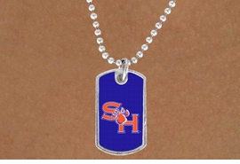 "<BR>WHOLESALE SAM HOUSTON JEWELRY<Br>               LEAD & NICKEL FREE!!<Br>         STERLING SILVER PLATED!!<bR>  W19124N - LICENSED SAM HOUSTON<Br>UNIVERSITY  ""BEARKATS"" DOG TAG<br>    NECKLACE FROM $3.35 TO $7.50"