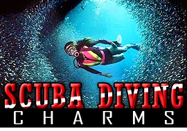 <BR>   WHOLESALE SCUBA DIVING CHARMS <BR> CADMIUM, LEAD AND NICKEL FREE <BR>             SOLD INDIVIDUALLY