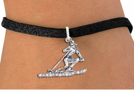 <BR>   WHOLESALE SKIING CHARM BRACELET <bR>                EXCLUSIVELY OURS!! <Br>           AN ALLAN ROBIN DESIGN!! <BR>  CLICK HERE TO SEE 1000+ EXCITING <BR>        CHANGES THAT YOU CAN MAKE! <BR>     LEAD, NICKEL & CADMIUM FREE!! <BR> W1494SB - SILVER TONE SKIER SKIING <BR>    CLEAR CRYSTAL CHARM & BRACELET <BR>         FROM $5.40 TO $9.85 �2013