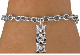 "<BR>  WHOLESALE SOCCER CHARM BRACELET <bR>                 EXCLUSIVELY OURS!! <Br>            AN ALLAN ROBIN DESIGN!! <BR>   CLICK HERE TO SEE 1000+ EXCITING <BR>         CHANGES THAT YOU CAN MAKE! <BR>      LEAD, NICKEL & CADMIUM FREE!! <BR> W1474SB - SILVER TONE SOCCER ""MOM"" <BR>     CLEAR CRYSTAL CHARM & BRACELET <BR>          FROM $5.40 TO $9.85 �2013"