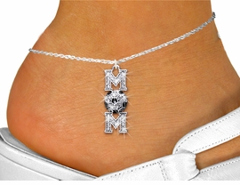 "<bR>     WHOLESALE SOCCER CHARM JEWELRY <BR>                  EXCLUSIVELY OURS!! <BR>             AN ALLAN ROBIN DESIGN!! <BR>       LEAD, NICKEL & CADMIUM FREE!! <BR> W1474SAK - SILVER TONE SOCCER ""MOM"" <BR>     CLEAR CRYSTAL CHARM AND ANKLET <Br>           FROM $5.40 TO $9.85 �2013"