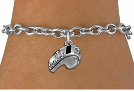 """<br>         WHOLESALE SPORTS BRACELET <bR>                   EXCLUSIVELY OURS!!<BR>              AN ALLAN ROBIN DESIGN!!<BR>     CLICK HERE TO SEE 1000+ EXCITING<BR>           CHANGES THAT YOU CAN MAKE!<BR>        CADMIUM, LEAD & NICKEL FREE!!<BR>        W1432SB - LARGE, SILVER TONE <Br> """"#1 COACH"""" WHISTLE CHARM & BRACELET <BR>            FROM $4.15 TO $8.00 �2013"""