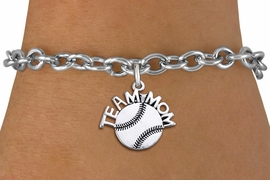 "<br> WHOLESALE TEAM MOM SOFTBALL BRACELET <bR>                    EXCLUSIVELY OURS!!<BR>               AN ALLAN ROBIN DESIGN!!<BR>      CLICK HERE TO SEE 1000+ EXCITING<BR>            CHANGES THAT YOU CAN MAKE!<BR>         CADMIUM, LEAD & NICKEL FREE!!<BR>       W1481SB - DETAILED SILVER TONE <Br> ""TEAM MOM"" SOFTBALL CHARM & BRACELET <BR>             FROM $4.50 TO $8.35 �2013"