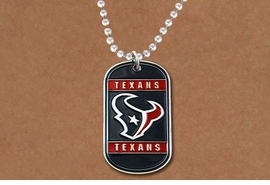 <br>      WHOLESALE TEXAN JEWELRY<Br>       LEAD & NICKEL FREE!!<Br>      OFFICIALLY LICENSED!!<Br>NATIONAL FOOTBALL LEAGUE!!<Br>W19348N - HOUSTON TEXANS<Br>          DOG TAG NECKLACE<br>        FROM $6.63 TO $12.50
