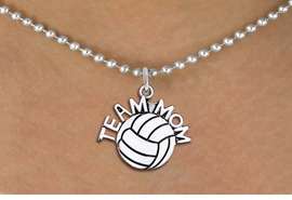 "<br>        WHOLESALE VOLLEYBALL JEWELRY <bR>                    EXCLUSIVELY OURS!! <BR>               AN ALLAN ROBIN DESIGN!! <BR>      CLICK HERE TO SEE 1000+ EXCITING <BR>            CHANGES THAT YOU CAN MAKE! <BR>         CADMIUM, LEAD & NICKEL FREE!! <BR>        W1486SN - DETAILED SILVER TONE <BR> ""TEAM MOM"" VOLLEYBALL CHARM & NECKLACE <BR>              FROM $4.85 TO $8.30 �2013"