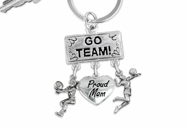 "<BR>      WHOLESALE VOLLEYBALL JEWELRY<Br>                    EXCLUSIVELY OURS!! <Br>               AN ALLAN ROBIN DESIGN!! <Br>                  LEAD & NICKEL FREE!! <BR>     W20216KC - SILVER TONE ""GO TEAM!"" <BR>       VOLLEYBALL THEMED KEY RING WITH <BR>    BUMP, ""PROUD MOM"" AND SERVE CHARMS <BR>            FROM $6.41 TO $14.25 �2013"
