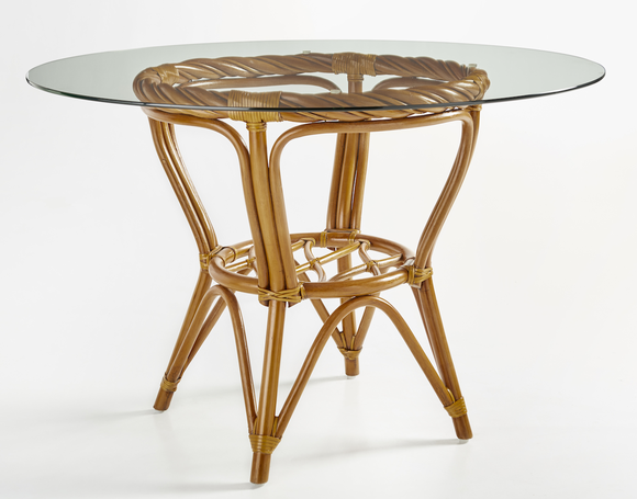 Alcove Rattan 48 Inch Round Dining Table
