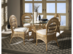 armless rattan dining set of 5 tropical breeze
