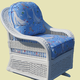 Ashford Rattan Single Glider Chair