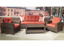 Baybreeze Outdoor Wicker Set of 4