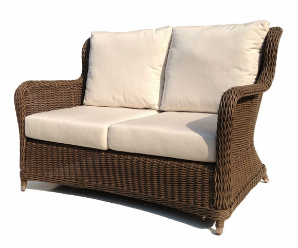 Bayshore Outdoor Wicker Loveseat