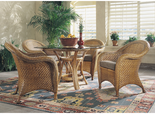 Genial Bermuda Wicker Dining Set