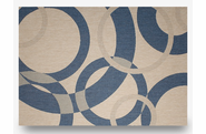 "Champagne Neptune: Indoor Outdoor Rug: 7'10"" x 10'"