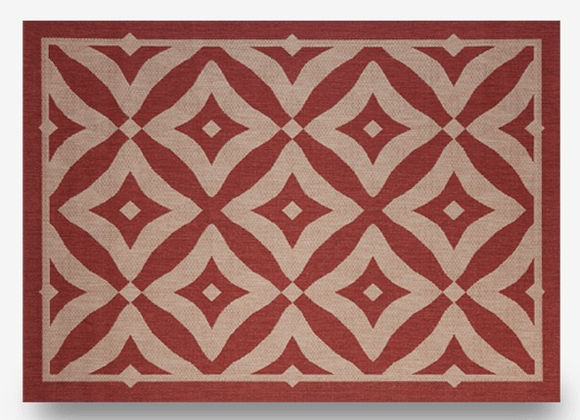 "Charleston Henna: Indoor Outdoor Rug: 7'10"" x 10'"