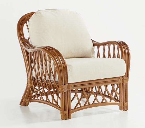 Crystal lake rattan chair for Antigua wicker chaise
