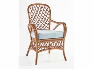 Crystal Lake Rattan Dining Arm Chair