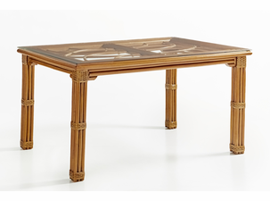 Crystal Lake Rattan Rectangular Dining Table