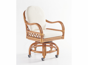 Crystal Lake Rattan Swivel Dining Chair