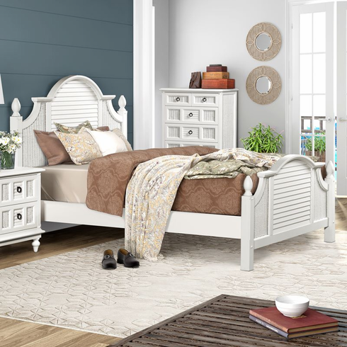 Destin Wicker Queen Bed