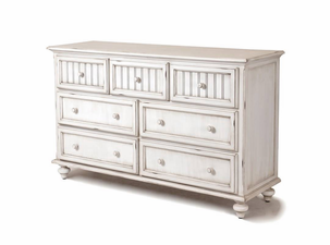 Distressed Wood 7 Drawer Dresser